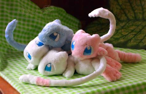 Handmade Plushies - mew friends handmade plushies by piquipauparro on deviantart