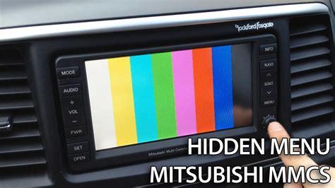 automotive service manuals 2002 mitsubishi pajero navigation system how to enter hidden service menu in mitsubishi mmcs lancer pajero outlander asx rvr youtube
