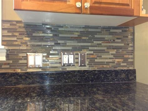 slate backsplash tiles for kitchen kitchen backsplashglass tile and slate mix kitchen