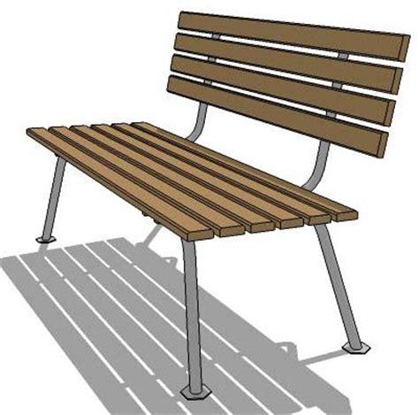 free standing bench park bench 3d model formfonts 3d models textures