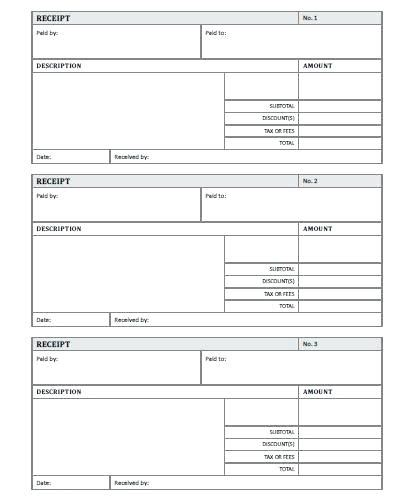 blank dock receipt template blank receipt template sale receipt downloadable