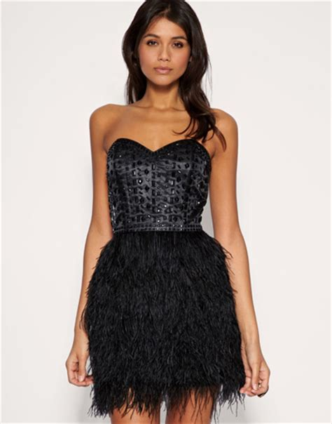 10 Black Tie Appropriate Cocktail Dresses by Asos Feather Corset Dress 10 Black Tie Appropriate Cocktail