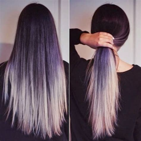 hairstyles for going out straight hair ombre od sive i boje lavande citymagazine