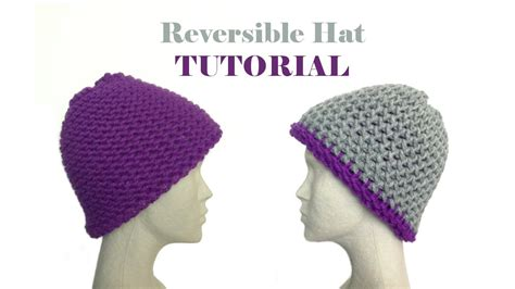 how to loom knit a hat how to loom knit a reversible hat diy tutorial