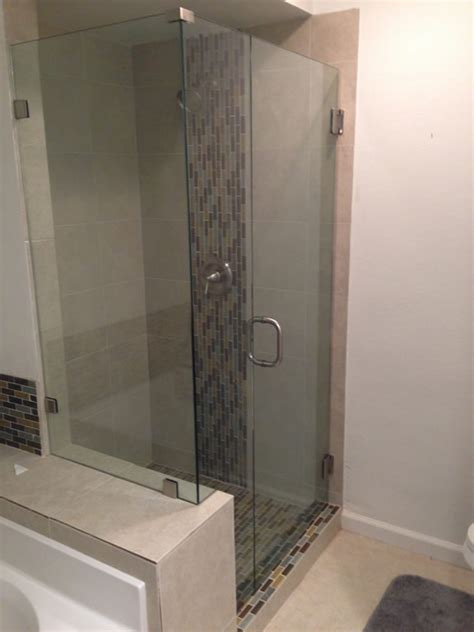 2 Shower Enclosures Shower Enclosure Notched Around Pony Wall Patriot Glass