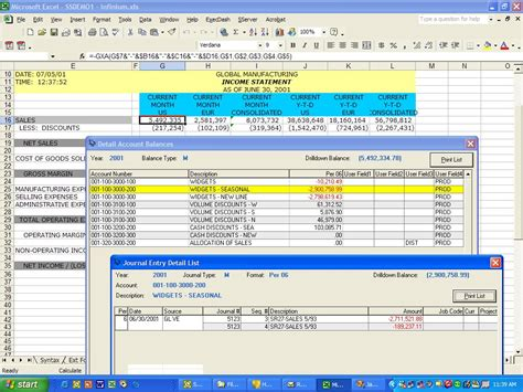 Host Excel Spreadsheet by Spreadsheet Server Reports For Infinium Synthasys