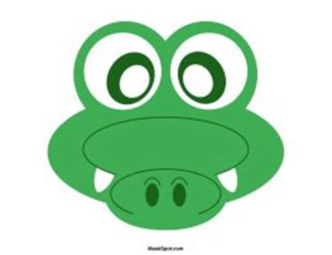 printable alligator mask crocodile mask templates including a coloring page version