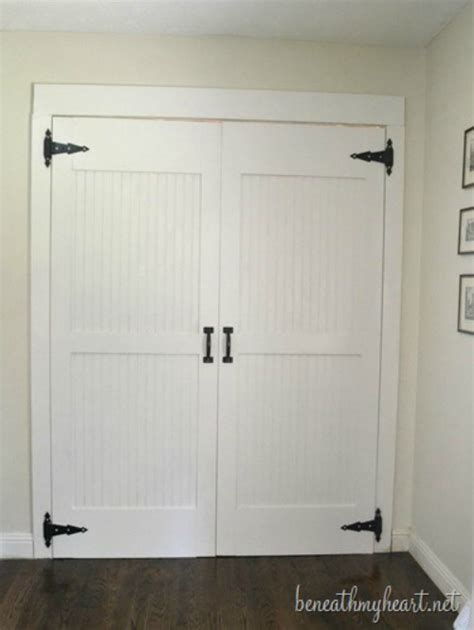 Diy Bi Fold Closet Doors 18 Closet Door Makeovers That Ll Give You Closet Envy