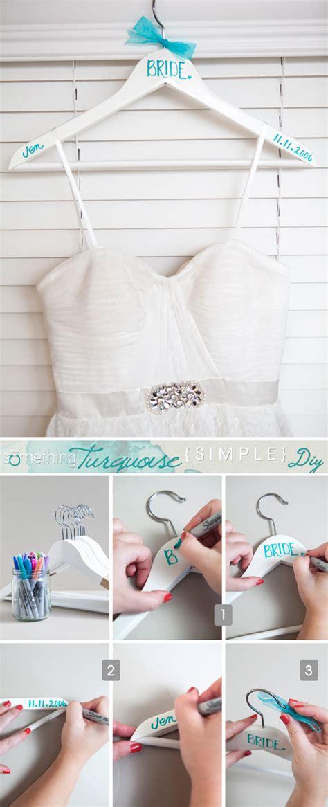 Diy Hangers - simple diy sharpie wedding hangers something turquoise