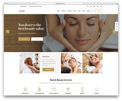 exles of hair websites 30 beautiful spa beauty salon wordpress themes 2018