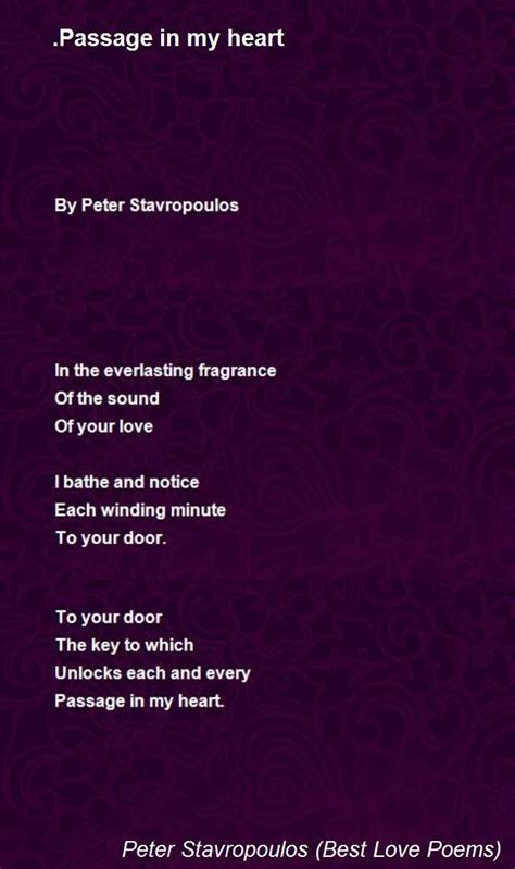 passage   heart poem  peter stavropoulos  love poems poem hunter