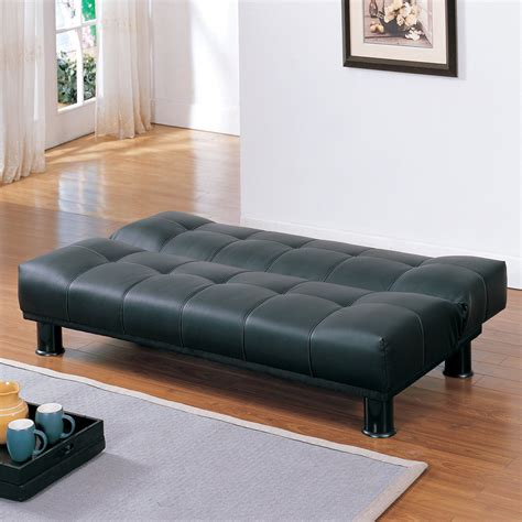 Vinyl Futon by Shop Homelegance Fruitvale Black Vinyl Futon At Lowes