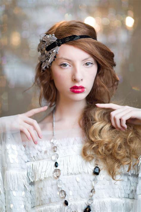 how to do your hair roaring twenties art deco wedding headpiece flapper headpiece black gatsby