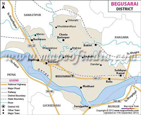 begusarai city map begusarai district map