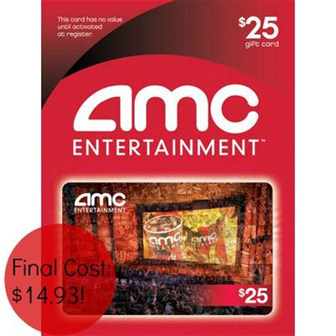 Amc Gift Cards At Cvs - 25 amc theatres gift card just 14 93 41 savings