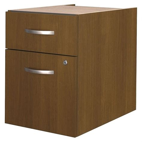 Warm Drawer by Bush Business Series 2 Drawer Pedestal In Warm Oak Wc67590
