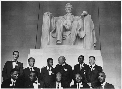 Civil Rights Leaders Back by File Civil Rights March On Washington D C Leaders Of