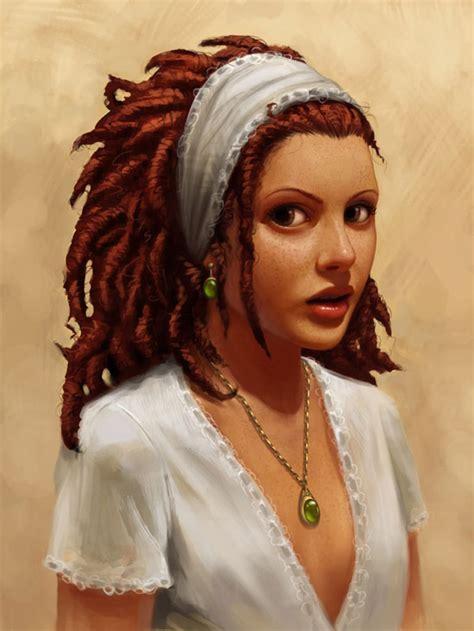 lolitas art beautiful redhead girls ilustrations