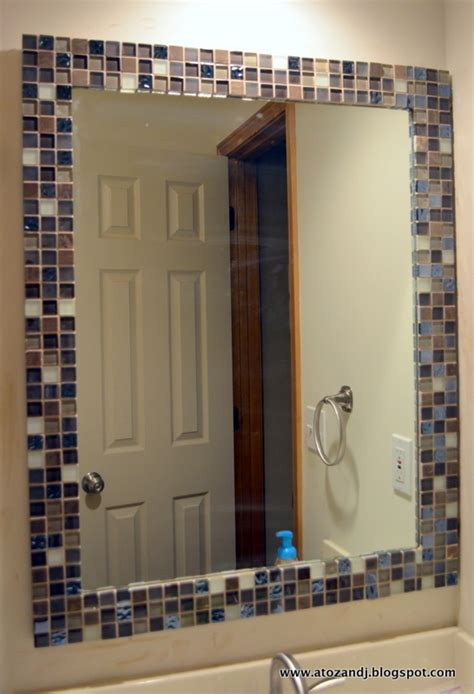 bathroom mirror makeover a to z with a j mirror makeover