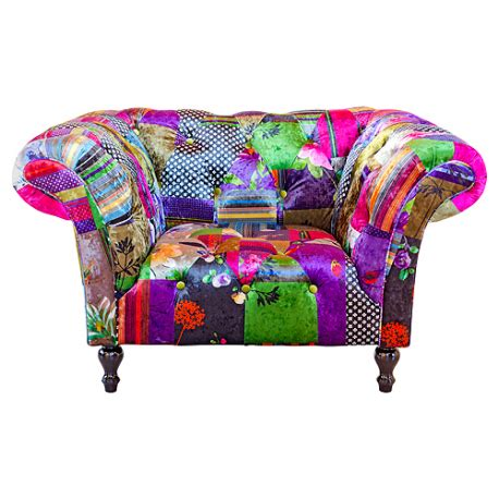 Patchwork Armchairs - alhambra luxury pattern patchwork armchair