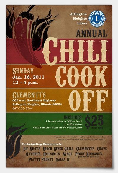 chili cook off flyer template template design