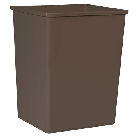 commercial trash cans rubbermaid fg256b00brn 56 gallon commercial trash can plastic rectangular