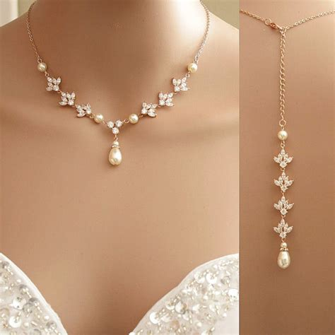 Wedding Backdrop Necklace by Gold Backdrop Necklace Backdrop Necklace