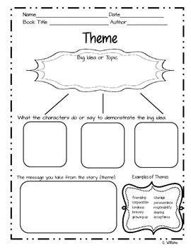 theme in literature graphic organizer i created this theme graphic organizer for a friend and