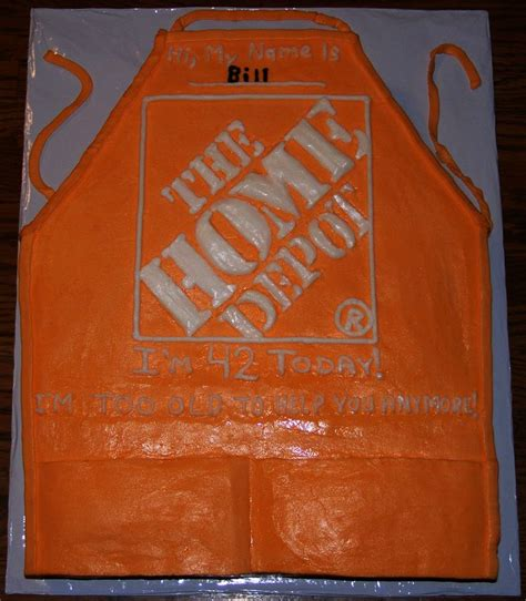 the home depot apron cake my character licensed cakes
