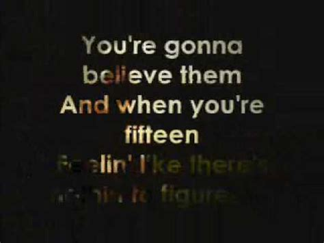 taylor swift breathe karaoke taylor swift fifteen karaoke lyrics on screen youtube