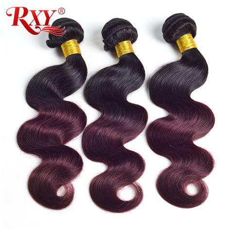 buy permanent hair extensions cheap brazilian hair bundles remy aliexpress com buy rxy hair ombre brazilian hair weave