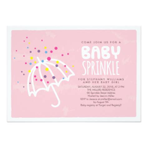sprinkle invitations templates baby sprinkle invitations announcements zazzle