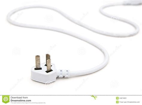 white electric cable stock image image 24674931