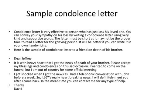 Closing Bereavement Letter formal condolence letter simple and easy to use condolence