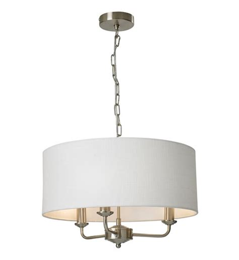 3 Light Ceiling Fitting by Grantham 3 Light Ceiling Fitting Satin Nickel