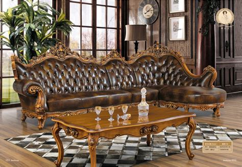 antique style classic furniture genuine leather living chaise armchair beanbag style set antique no genuine