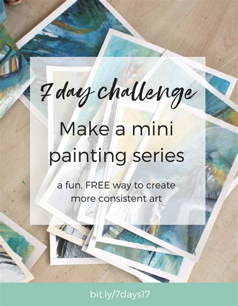 Make A Mini Book Challenge by Make A Mini Painting Series The 7 Day Challenge Returns