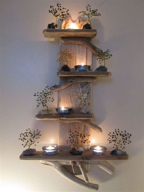 amazing driftwood shelves that look like great work of