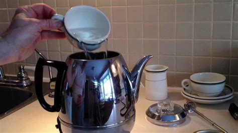 General Electric Coffee Percolator pot belly 1950's vintage Model P410A Stainless Steel   YouTube