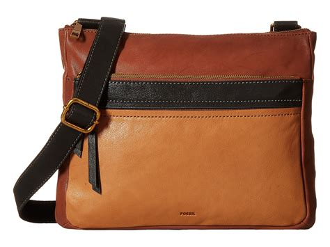 Fossil Emerson Multibrown 3 Tone Large fossil corey large crossbody multi brown zappos free shipping both ways
