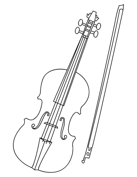 violin unit study violin coloring page free pdf download
