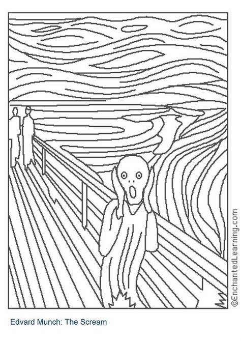 l urlo famous paintings coloring pages famous paintings