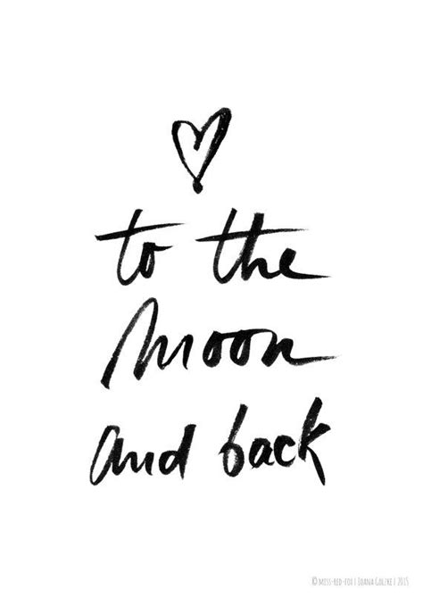 design is my passion quotes to the moon and back poster print black and white
