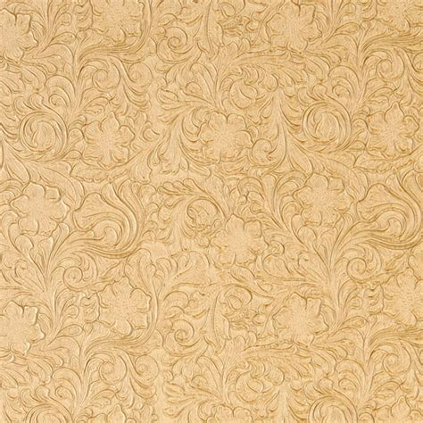 Southwest Dining Room Furniture by Butter Yellow Tooled Floral Designed Upholstery Faux