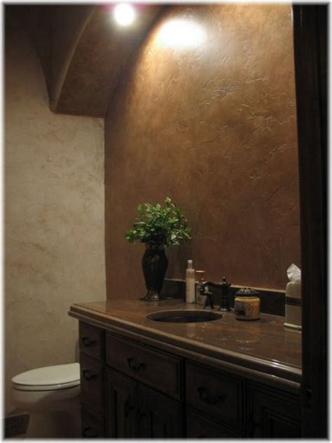 faux painting ideas for bathroom metallic gold silver and bronze paints add richness and