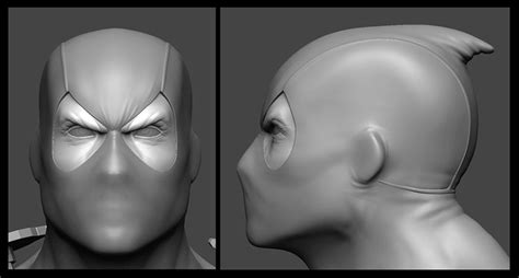 zbrush tutorial realistic face making of deadpool