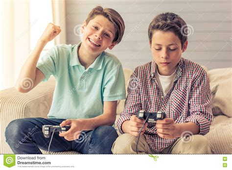 boys at home stock image image of expression