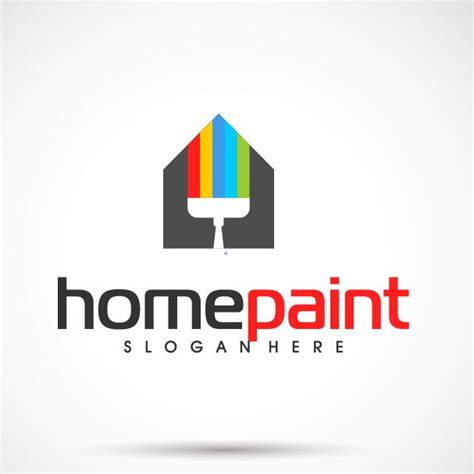 house painter logo home paint logo vector free download