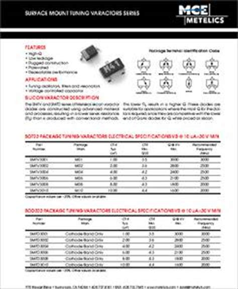varactor diode datasheet smtv3001 datasheet surface mount varactor diode