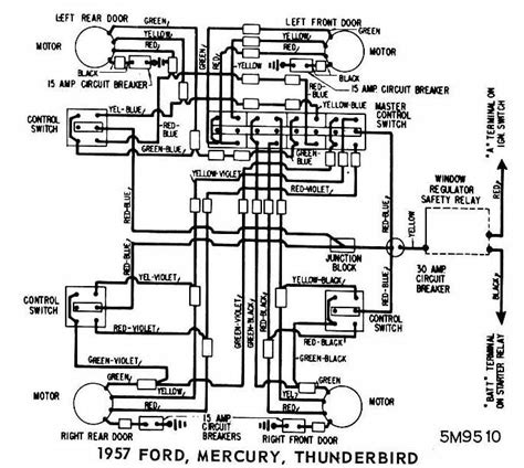 ford mercury and thunderbird 1957 windows wiring diagram all about wiring diagrams